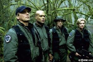 Some TV problems remain via some characters being expert in way too many disciplines and being able to instantly learn and use complicated technology.  However, Richard Dean Anderson (and his character) breaks through all the cliches of the genre by playing a major part in the story while constantly making comments on it (just like a viewer).