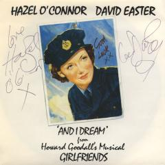 This copy was purchased through the Hazel O'Connor Fan Club.